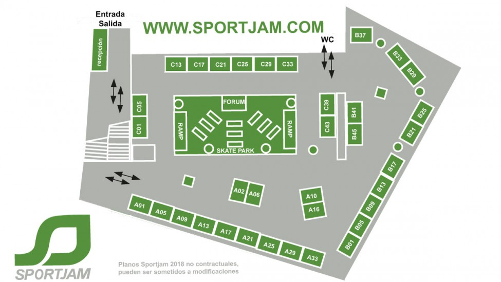 Floor Plan Exhibitors Sportjam Spanish Show At Kursaal Exhibition